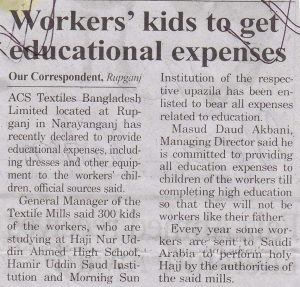 worker' kids educational expense