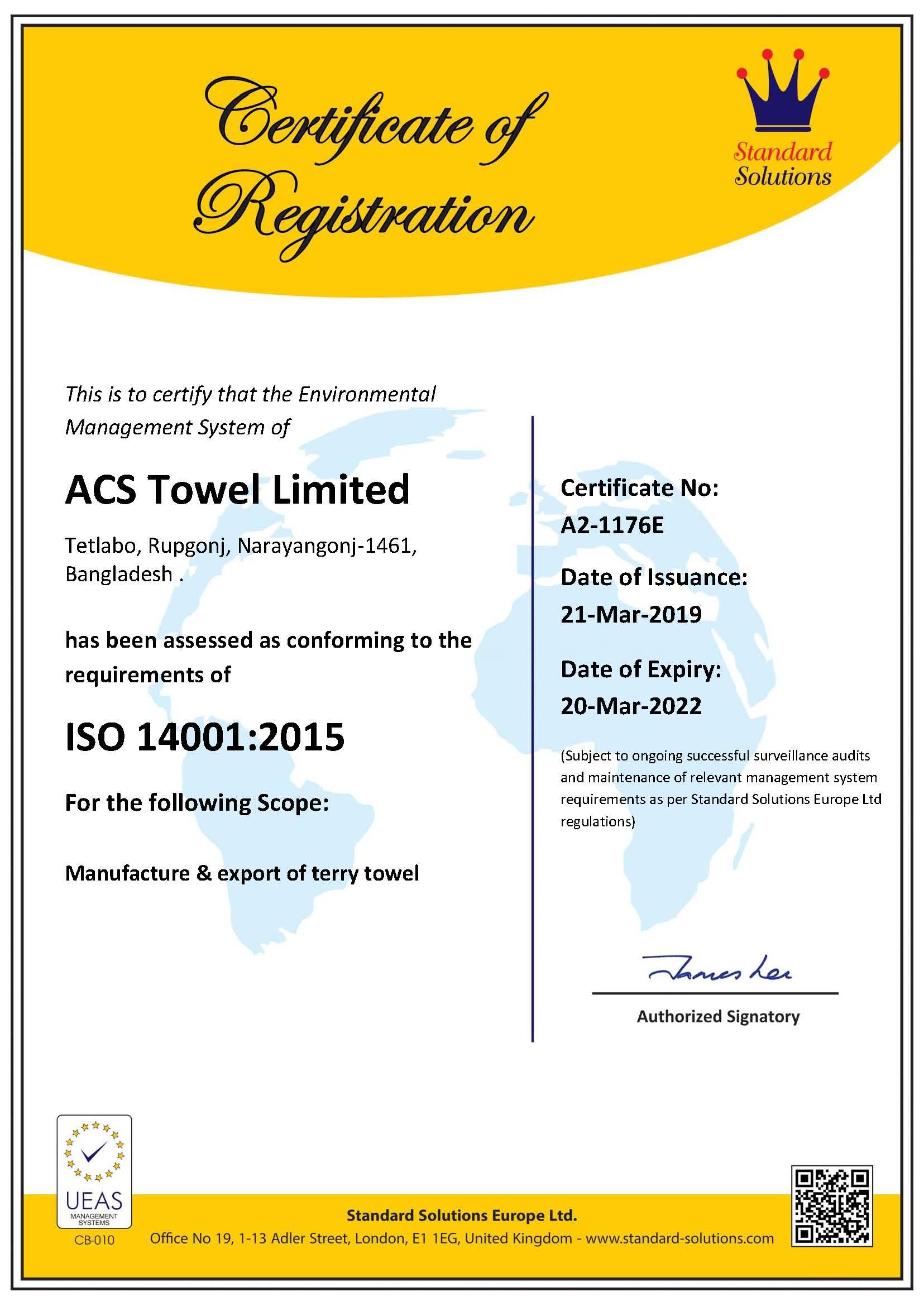 ISO 14001.2015 Towel (20.03.22)