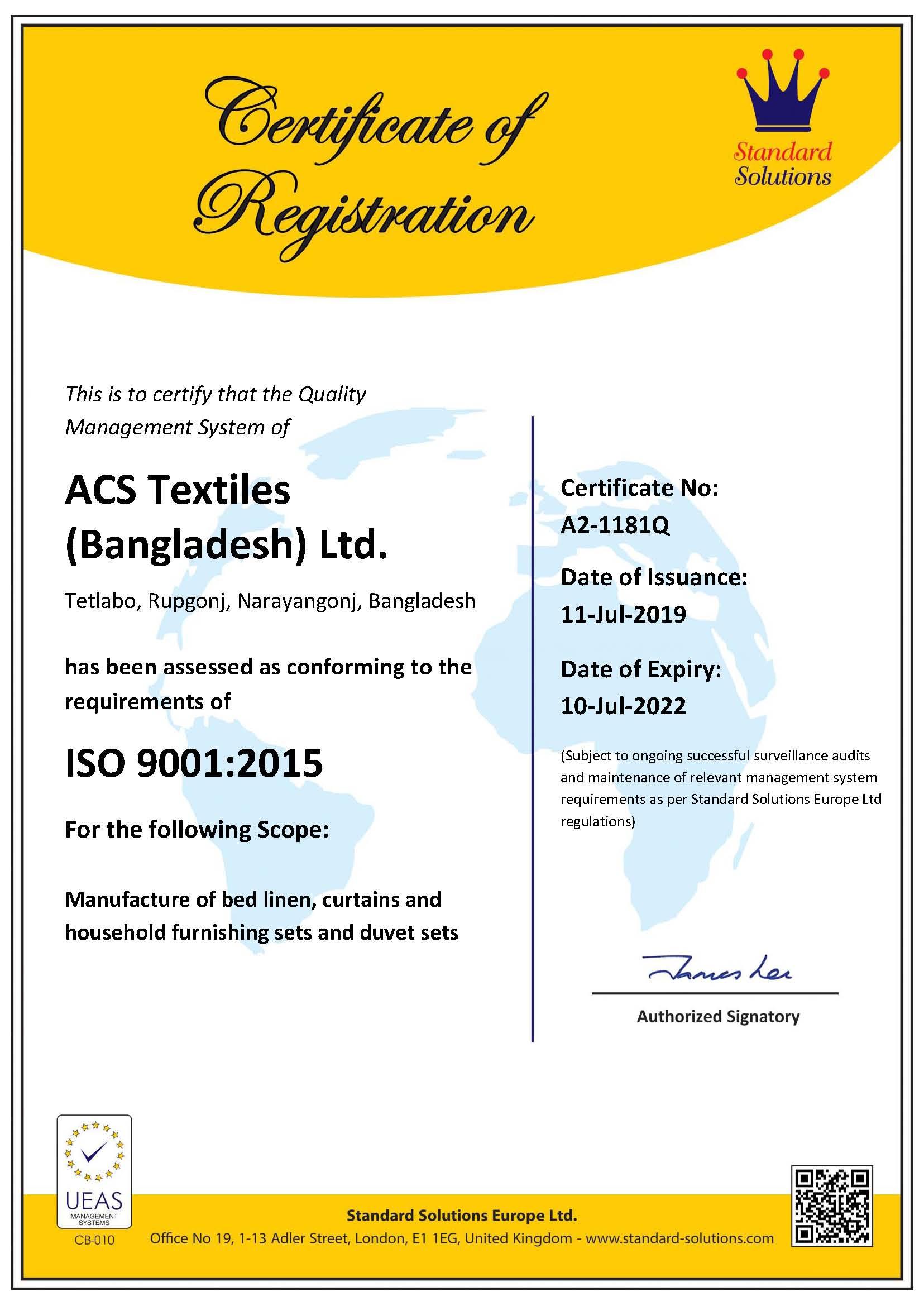 ISO 9001.2015 Textile (10.07.22)